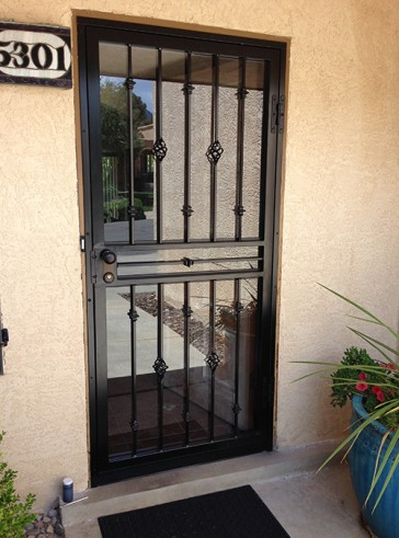Security Storm Door in Baskets and  Knuckles Design.