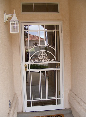 Security storm door in Park Avenue design