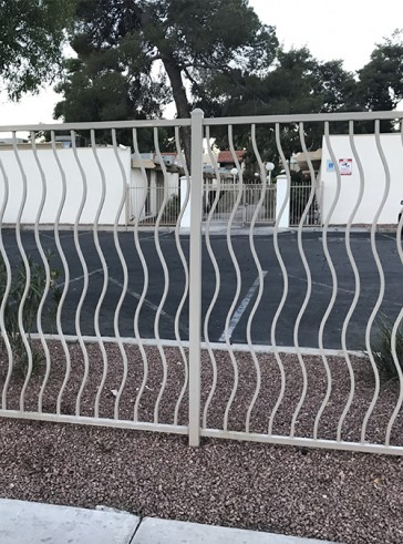 Fence with Wave pickets