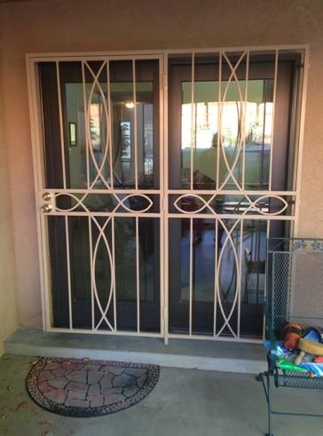Patio door with Iron Cross design