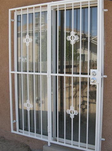 Patio door with Small Zia design