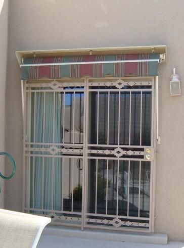 Patio door with High Desert design