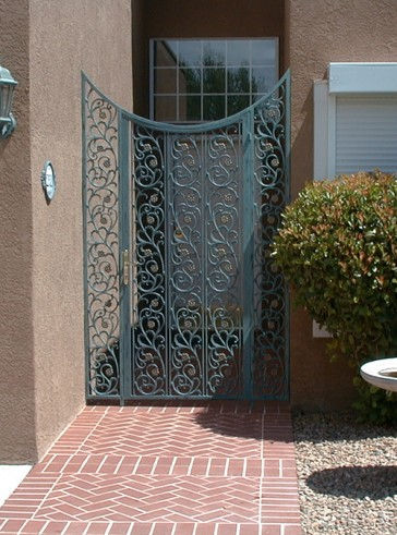Custom patio gate with side panels