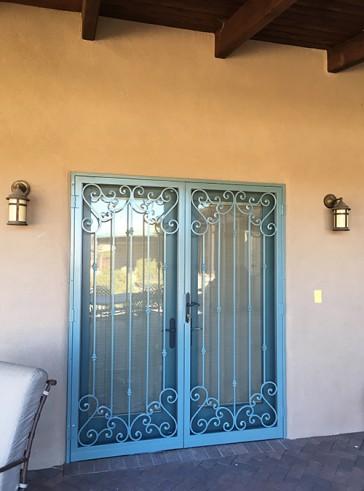 Pair of security custom screen doors