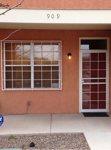 Security Storm door and Window grill in Divided Light design