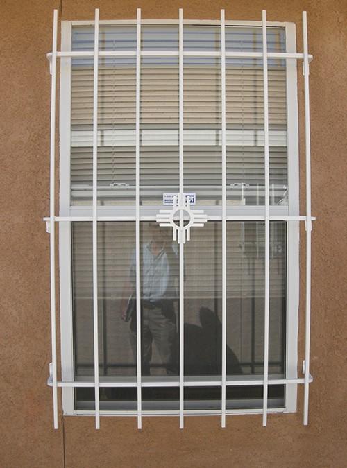 Window Grill In Small Zia Design