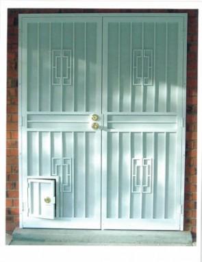 perforated metal and pet door