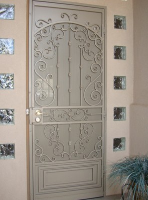 Security pre-hung door in Royal Palace design and perforated metal