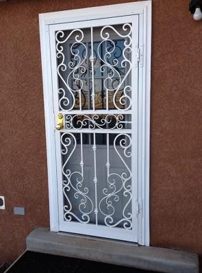 Security storm door in Royal Palace design