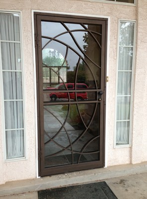 Security Storm Door in freeform design