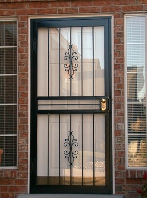 Security storm door in Sundance design