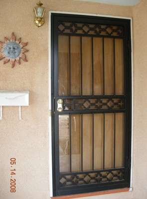Security Storm door in Castle Rock design