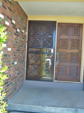 Security storm door with Custom design