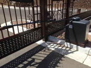 Electric Driveway Gates with custom design.