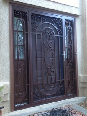 custom design, slimline lock, and sidelights