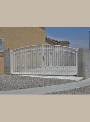 Arched gates with Baskets and expanded metal