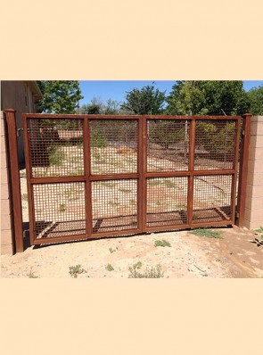 Pr. of gates with Welded wire panels in rust finish