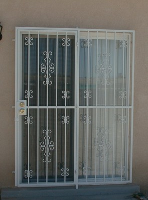 Patio door with Seville and double C scroll design