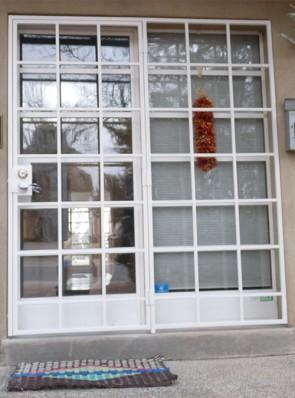 "Patio door with 3/4"" divided light design"