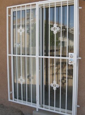 Patio door with Small Zia design