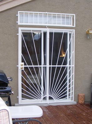 Patio door with Sunray design