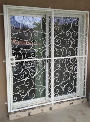 Patio door with Scrolls design