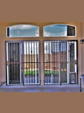 Patio doors with Baskets design and lockable pet gate