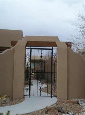 Front gate with Caprice design