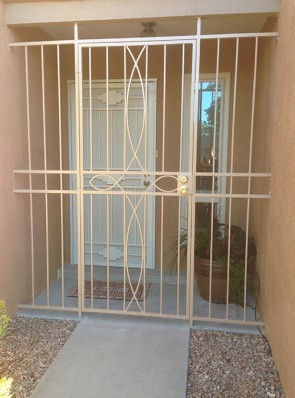 Porch enclosure with Iron Cross design