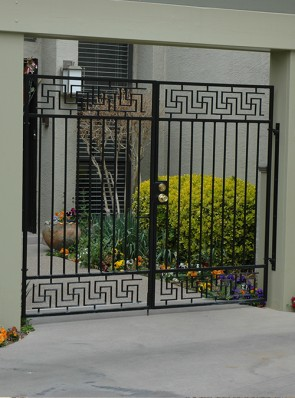 Pr. of entryway gates with Lg. Greek Key design