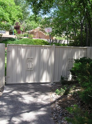 Gate and Fence panel with Contemporary design and solid metal