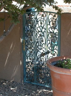 Gate with Flower Castings