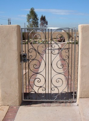 Gate with Forged scrolls