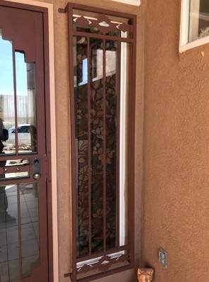 Window grill in High Desert design