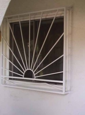 Window grill in Sunray with Bent Bar design