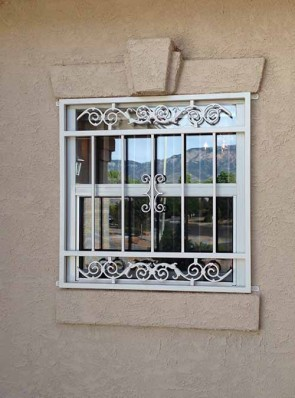 Window grill in Center Frieze with Center Scroll design