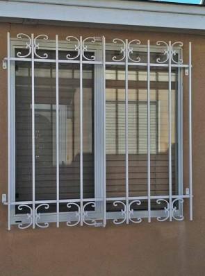 Window grill with Medium C Scroll design