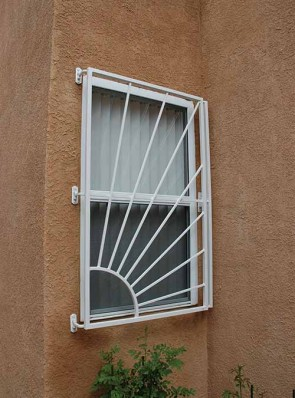 Window grill with Release in Sunray design