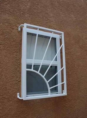 Window grill in Sunray design