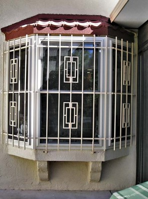 Bay window grill in Contemporary design