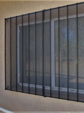 Window grill with perforated metal