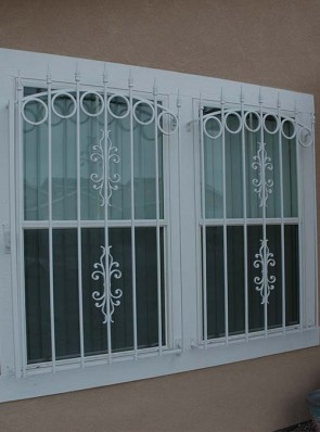 Window grills with arched tops, spears, Circles and Sundance design