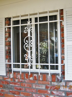 Window grill in Caprice design