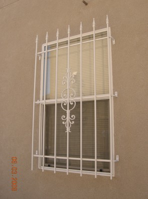 Window grill with Spears in Caprice design