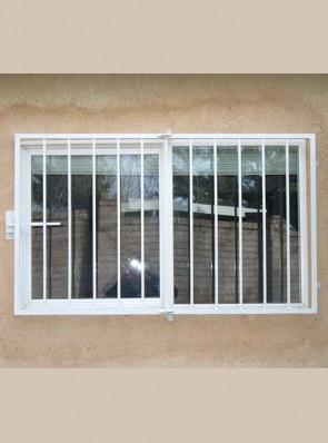 Framed window grill with no design