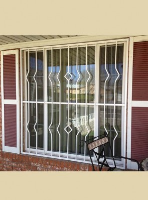 Window grill with Zig Pickets and Diamond design