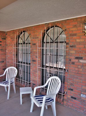 Arched window grills with Contemporary design