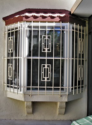 Bay window grills with Contemporary design