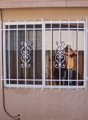 Security window grill in Sunbird design