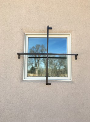 Cross bar for small window